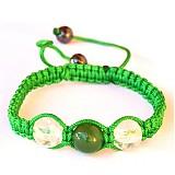 Náramky - zelený náramok avanturín - krištáľ - 3232837