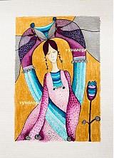 Kresby - ...fialový kvet... - 3233345