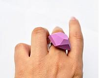 Prstene - Geometrický nastaviteľný prsteň | minimal arch | lavender - 3234551
