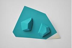 Náušnice - Geometrické náušnice | minimal arch | turquoise - 3234566