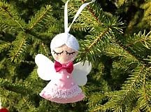 Dekorácie - Vianočný anjelik (Pink No. 2) - 3234570