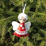 Vianoce - Vianočný anjelik (Red) - 3234582