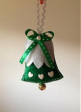 Vianoce - Vianočný zvonček (Green) - 3234594