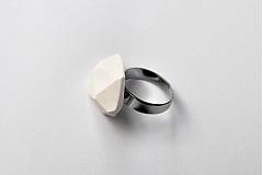 Prstene - Geometrický nastaviteľný prsteň | minimal arch | white - 3234931