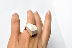 Prstene - Geometrický nastaviteľný prsteň | minimal arch | white - 3234932