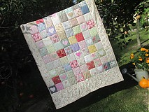 Úžitkový textil - Deka patchwork -srdiečka - 3235067