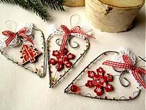 - srdiečko červeno-biele so stromčekom - 3237323