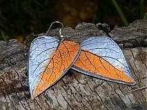Náušnice - sivo oranžové - 3241026