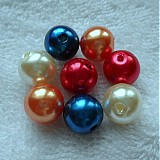Korálky - GLANCE plast 12mm-MIX-8ks - 3241582