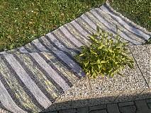Koberec Sivo-zelený 160x73cm