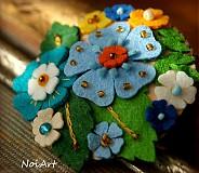 Odznaky/Brošne - Rozkvitnutá, modrý sen - 3246178