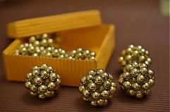- Vianočné gule - malé zlaté - 3250790