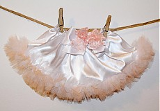 Detské oblečenie - Bielo-marhuľová tutu - 3255452