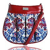Kabelky - Love Tenderness no. 287 Blue Red Damask - 3261126
