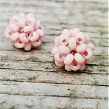 Náušnice - Brusnice ružové - 3265791