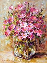 - Ružová kytička v skle (k dispozícii) - 3266949