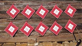 Úžitkový textil - Chňapka červená - 3268177