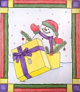 - Prekvapenie v darčeku - Roztomilý snehuliačik - 3276606