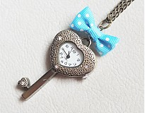 Náhrdelníky - kľúčik s mašličkou - 3289608