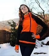 Mikiny - Černo-oranžová mikina  - 329362