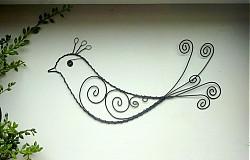 Dekorácie - vták s chocholčekom - 3294015