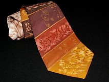Doplnky - Hodvábna kravata Čokoláda, med a karamel... - 3299717
