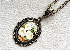 Náhrdelníky - biele kvety - 3300946