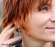 Náušnice - Veľkomoravské náušnice-hrozienkové - 3301592