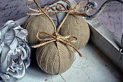 Dekorácie - Sada 6 shabby chic vianočných gúľ - 3302999
