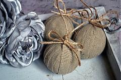 Dekorácie - Sada 6 shabby chic vianočných gúľ - 3303000