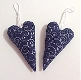 Dekorácie - srdiečka v modrom - 3306297