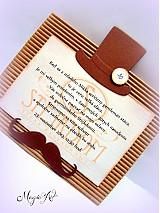 Papiernictvo - Pozvánka na narodeniny pre muža, ktorý si vie vychutnávať život! :) - 3309372