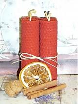 Svietidlá a sviečky - Adventné sviečky červené, 4 ks - 3316529