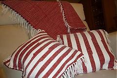 Úžitkový textil - Súprava - tkané obliečky na vankúše a tkaný koberček - 3316972
