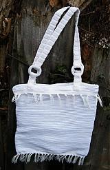 Kabelky - Tkaná taška biela - 3317703