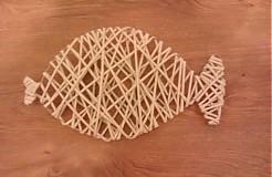 Dekorácie - Papierové pletenie ... kapor - 3318316