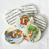 Úžitkový textil - Obojstranné vianočné podšálky - 3319073