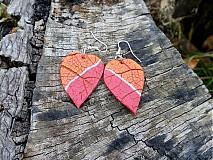 Náušnice - ružovo oranžové - 3326507