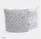 Úžitkový textil - POSLEDNÝ KUS Vianočné obliečky Sivá Vločky   - 3327002