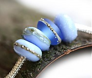 Materiál ručne robený - The Sky is Blue pandora - 3328455