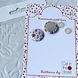 - Vyrob si vlastné náušnice - set na výrobu 1 páru buttonových náušníc vrátane darčekového obalu - 3333767
