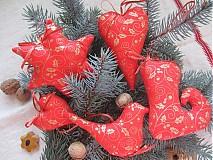 Dekorácie - vianoce v červenom - 3335822