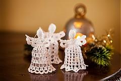 Dekorácie - Háčkované vianočné ozdoby - 3336295