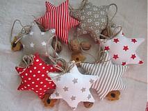 Dekorácie - vianočné hviezdičky červenohnedé - 3336312
