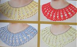 Náhrdelníky - Háčkovaný náhrdelník - 3336387