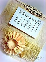 Papiernictvo - Nežný vintage na celý rok... - 3338208