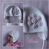 Detské čiapky - ciapocka kvetinka - 3338215