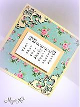 Papiernictvo - Shabby Chic kalendárik - 3338289