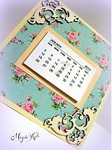Papiernictvo - Shabby Chic kalendárik - 3338293