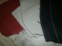 Suroviny - farebné a perforované odrezky kože 0,950 kg - 3341029